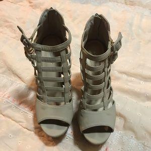 Cream Caged Heels